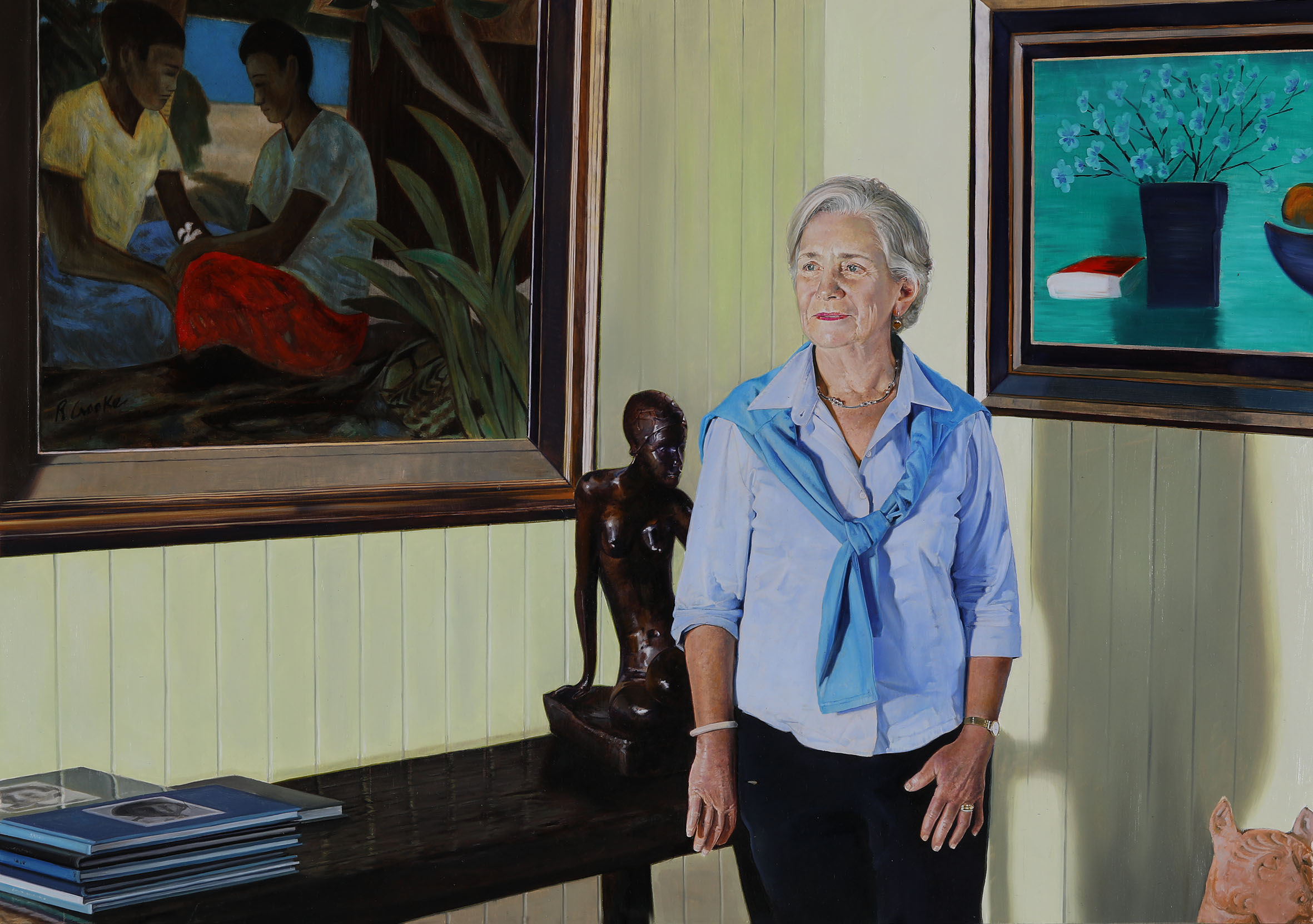 Gina at home by Michael Zavros